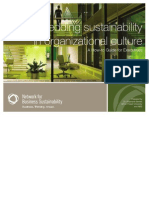 Executive Report Sustainability and Corporate Culture