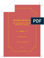 Hanslick Eduard Do Belo Musical