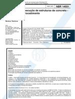 NBR 14931-2003 - Execução de estruturas de concreto - Procedimento