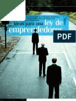 Ley de Emprendedores - Reportaje sobre la proposición de ley de apoyo a emprendedores