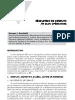 Résolution de conflits au bloc opératoire