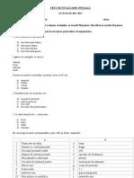 Test de Evaluare Initiala Clasa a Xi a - Costi