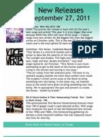 September 27 New Releases