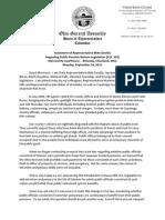 Statement of Representative Mike Dovilla Regarding Public Pension Reform Legislation (H.B. 323)