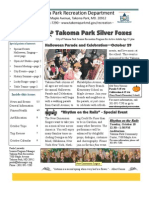 Silver Foxes Newsletter - October 2011 from the Takoma Park Recreation Department