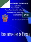 reconstruccion de europa