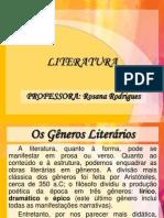 surg..OS GÊNEROS LITERÁRIOS