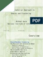 2007 04 26 Nii Houle Combin Apporach Search Cluster