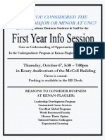 First Year Info Session Invite 2011