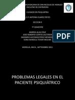 PROBLEMAS LEGALES