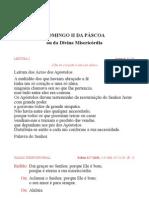 Leccionario Dominical Ano B Tempo Pascal