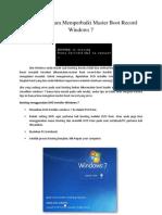 Bagaimana Cara Memperbaiki Master Boot Record Windows 7