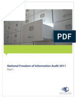 FOI Audit 2011 - Final Report