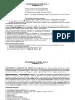 PROGRAMA DE FRANCÉS NIVEL 1