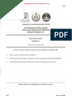 Pmr Trial 2011 Mm Q&A (Perak)