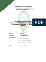Sistema de Informacion para la Facturacion de Transporte interdepartamental el Dorado