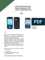 Actualização do Optimus Boston G1305 para versão Android 2