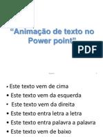 Animação de texto no Power point