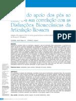Analise Do Apoio Dos Pes No Chao e a Sua Correlaçao Com as Disfunçoes Biomecanicas Da Articulaçao Ilio-sacra