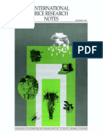 International Rice Research Notes Vol.18 No.4