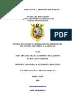 ESTUDIO TAXONÓMICO E HISTOLÓGICO DE SEIS ESPECIES