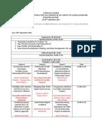 JV Conference Schedule-28-29 Sept 2011
