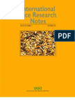International Rice Research Notes Vol.20 No.4