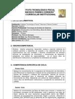 Modelo_Plan Curricular Institucional Primer Semestre 2011-2012