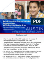 AISD Facilities Master Plan Administrative Recommendation 9/26/2011