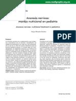 Anorexia Nervosa, Manejo Nutricional en Pediatria