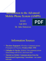 Introduction to the Analog Mobile Phone System (