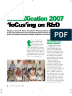 In Tech Xi Cation 2007 - 'FoCus'Ing on R&D