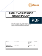 Family Assistance Order Policy