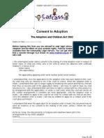 Consent to Adoption [1]