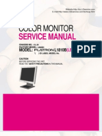 3082484 LG Monitor Flantron L1810B Service Manual