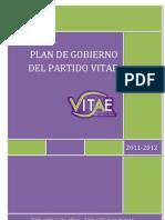 Plan de Gobierno Vitae