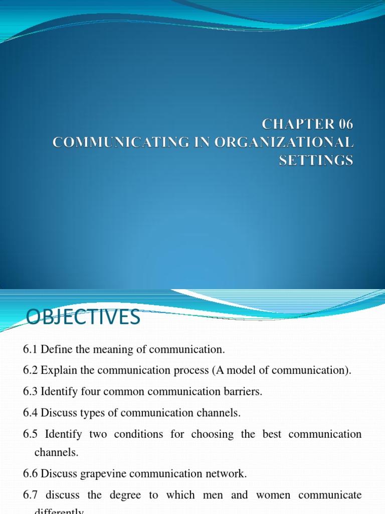 Chapter 06   Communication   Psychological Concepts