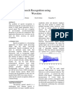 Speech Recognition Wavelets