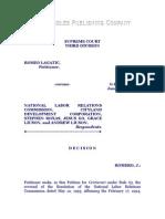 Lagatic vs. NLRC, G. R. No. 121004, Jan. 28, 1998