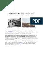 William Nicholls- From Devon to India