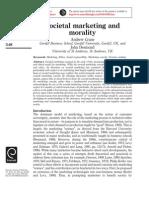 Societal marketing and Morality