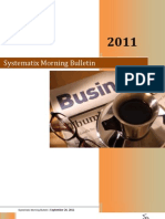 Systematix Morning Bulletin - September 26,2011