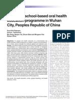 Effect of a School-based Oral Health
