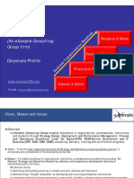 eXample Consulting Group-Corporate Profile and Services