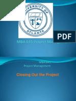 Poject Closeout