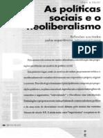 As Políticas Sociais e o Neoliberalismo
