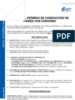 Canje Del Permiso de Conduccion de Paises Con Convenio