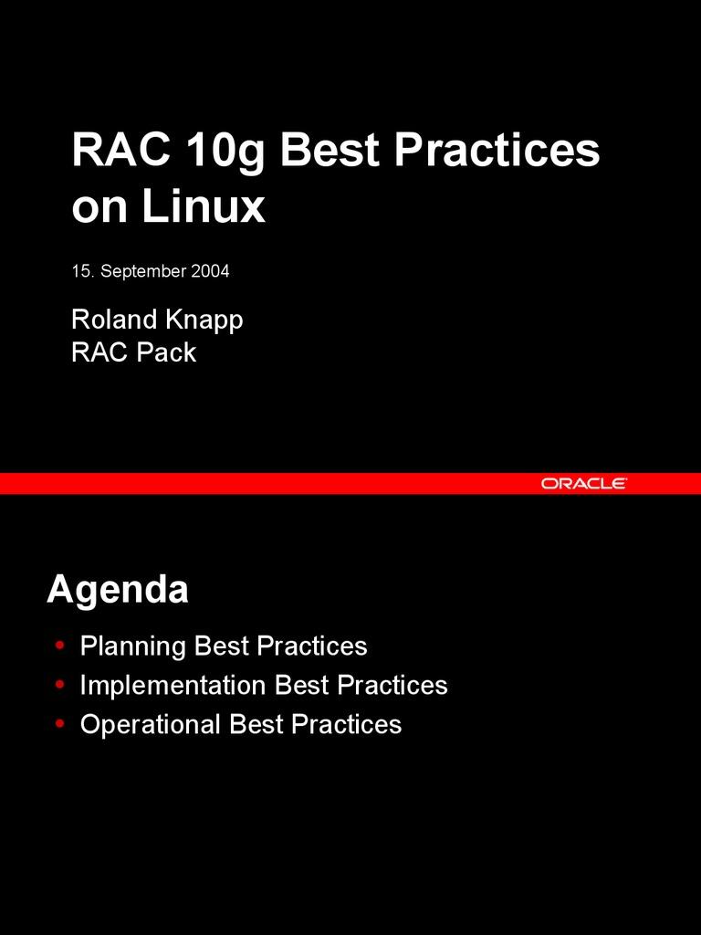Rac10g Bp On Linux 10 1 0 3 Oracle Database Computer