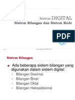 Sistem Bilangan & Sistem Kode(2011)