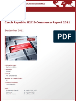 Brochure & Order Form_Czech Republic B2C E-Commerce Report 2011_by yStats